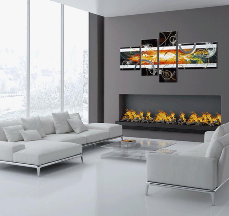 Abstract color explosion tableau tendance artwall and co - Tableaux modernes pour salon ...