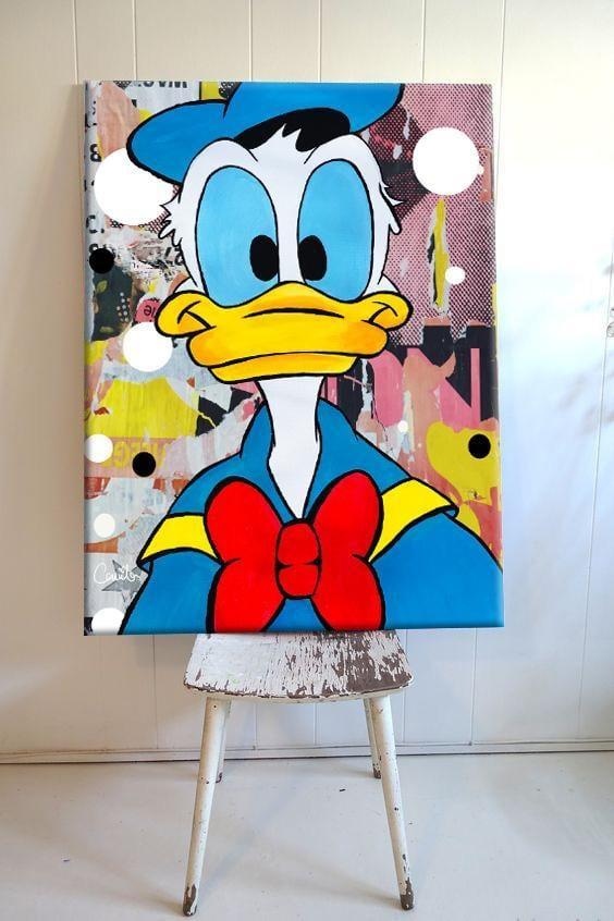 Tableau pop art donald duck pour une déco originale et unique