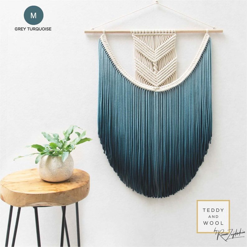 Design wall macrame for a unique interior and wall decoration