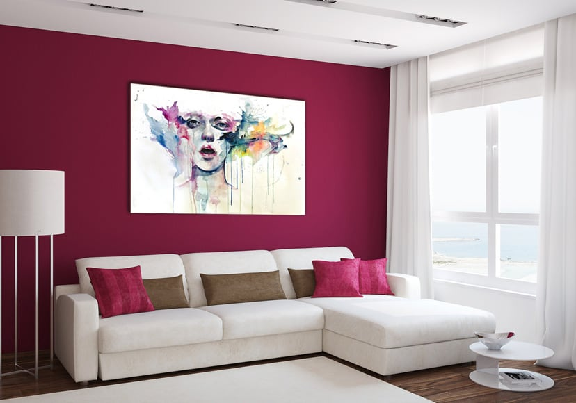 Tableau femme abstrait en couleur artwall and co for Pintura pared color vison