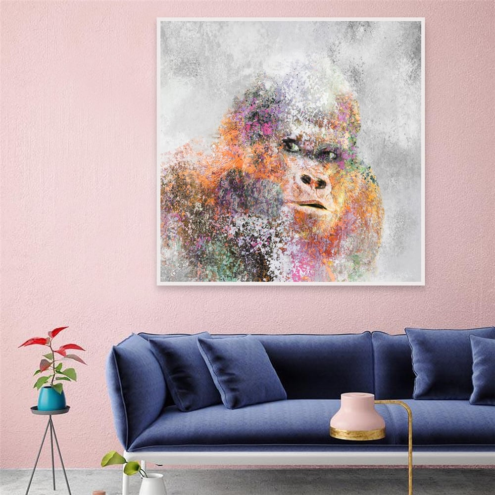 Modern painting of gorilla for a unique wall decoration