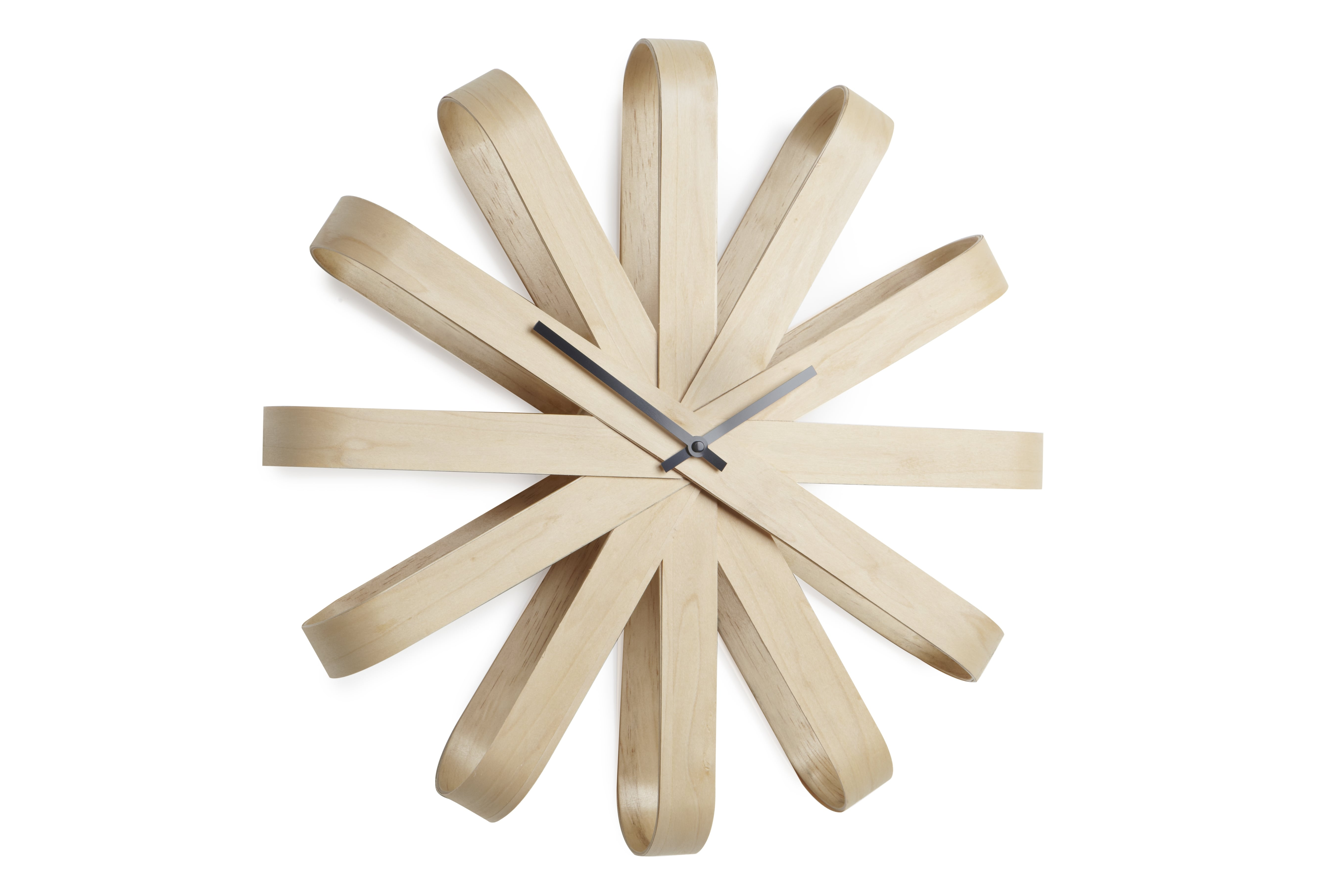 Big wall clock in wood for a design interior