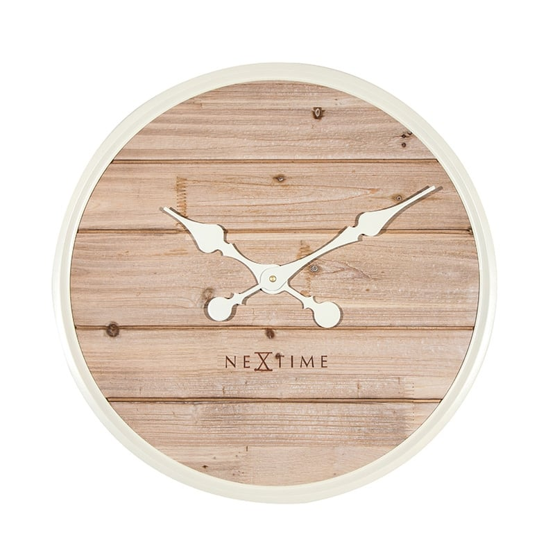 Wood modern wall clock for a cosy interior