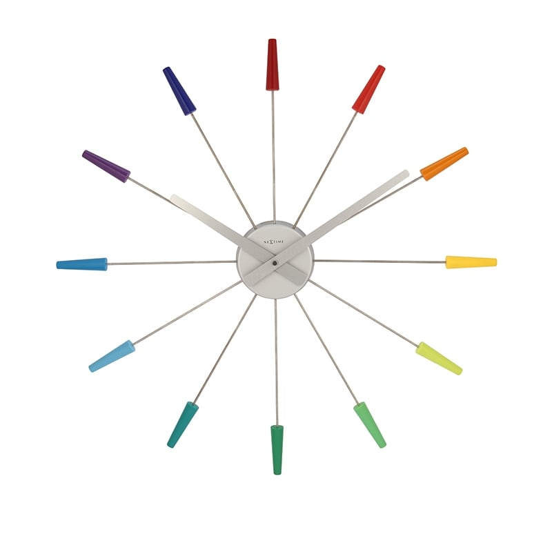 Colorful wall clock for a design touch