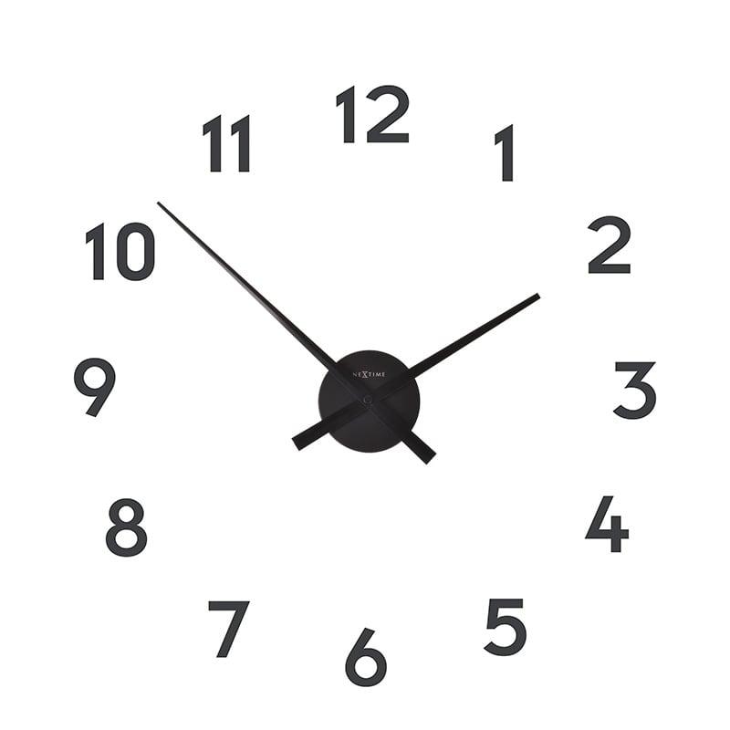 Horloge murale design chiffre pour un créer vous même votre mur