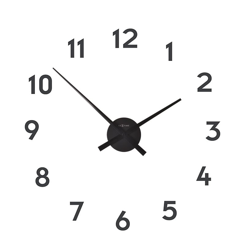Modern wall clock with numbers for a design interior