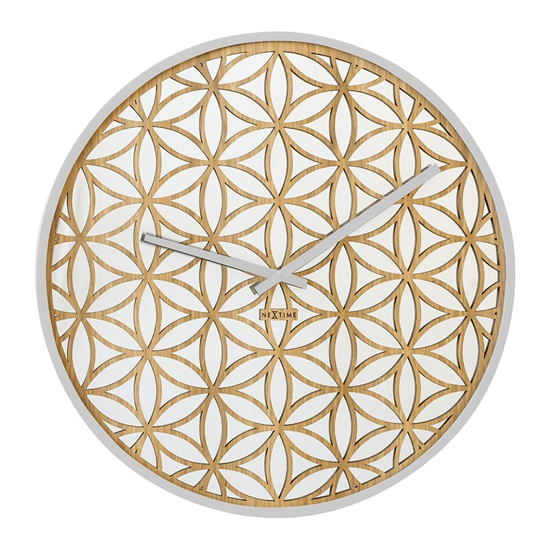 Modern wall clock with a white touch for a trendy wall