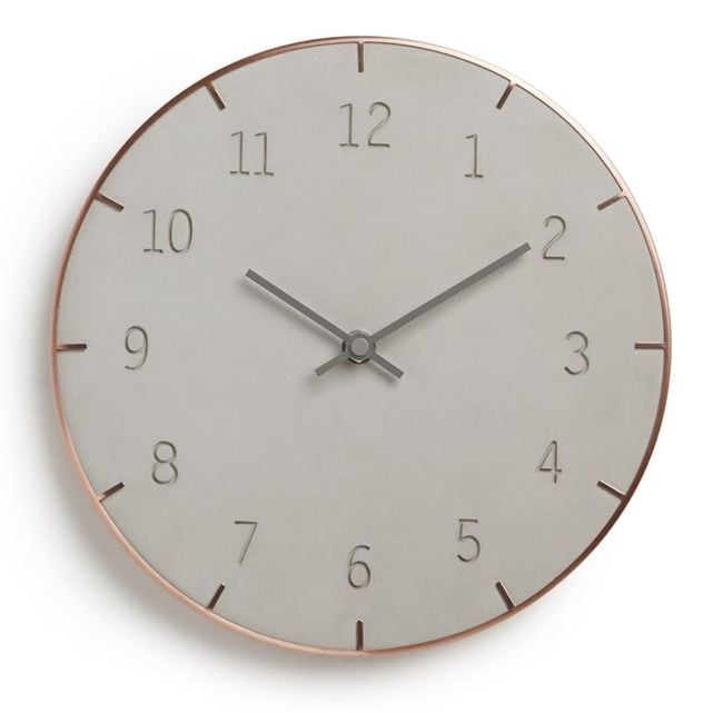 Copper design wall clock for a trendy interior