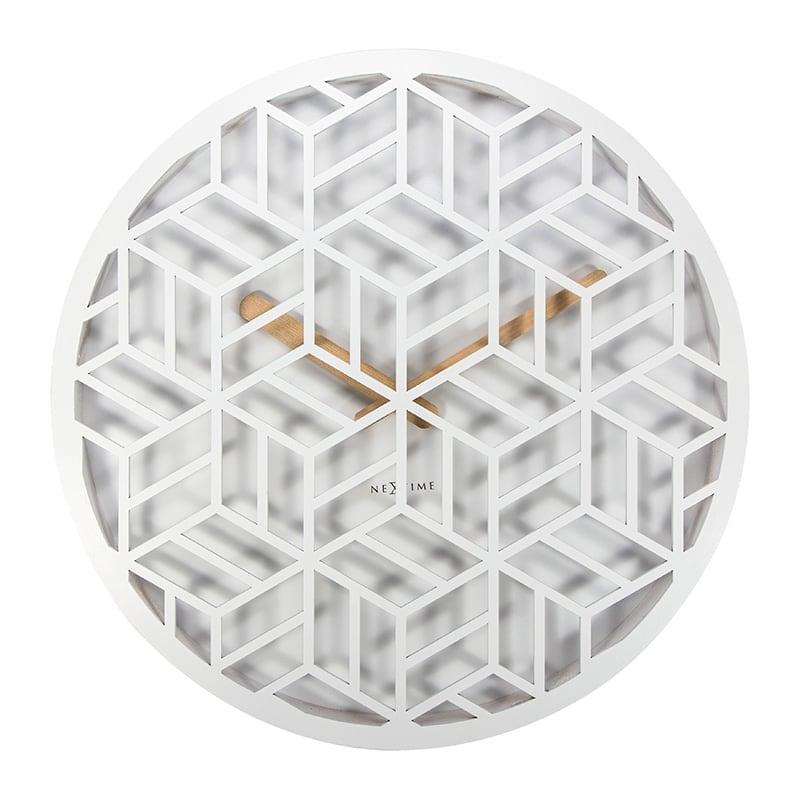 Grande horloge murale artwall and co blanche pour un intérieur design