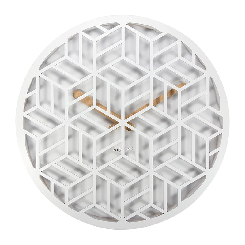 White wall clock for contemporary interiors