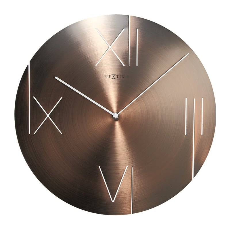 Metal wall clock for a design and trendy interior