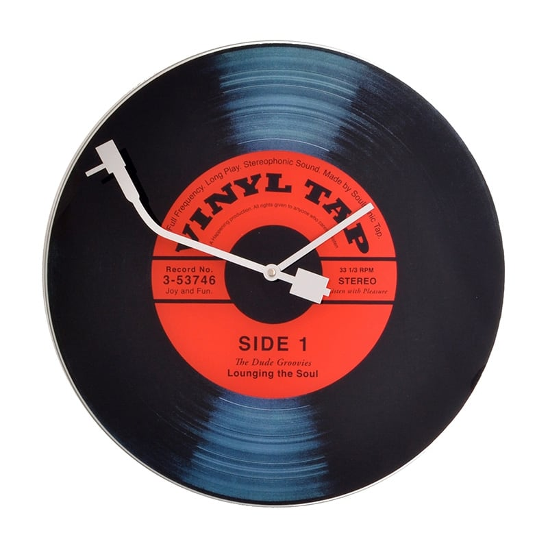 Modern wall clock of a vinyl for a music style