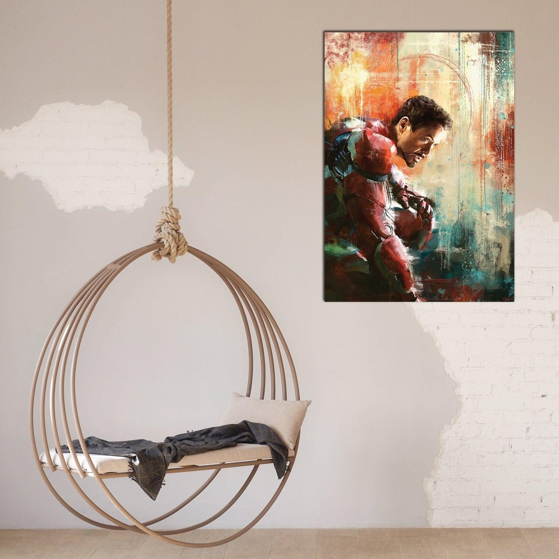 Tableau déco Iron Man réalisé par notre artiste design