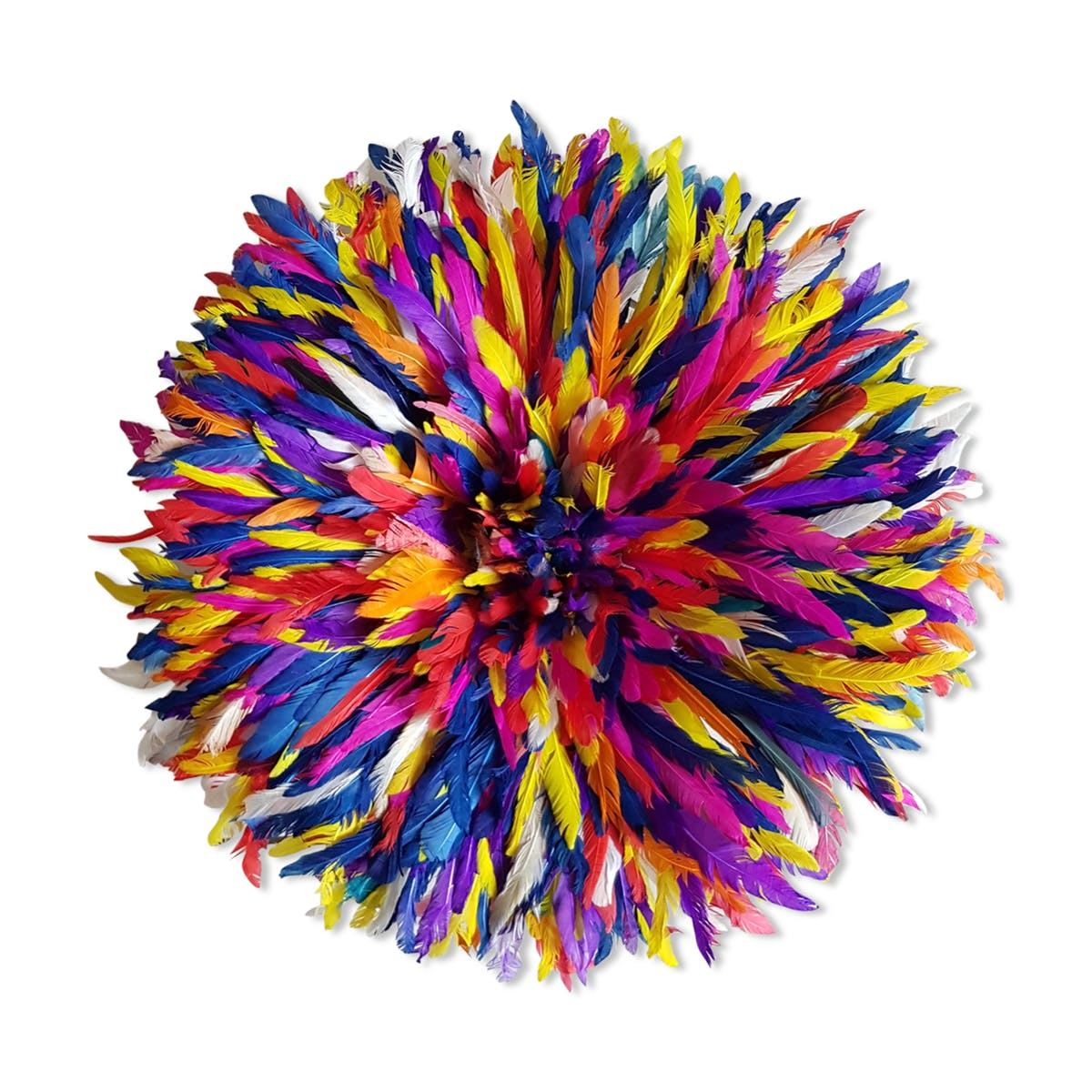 Multicolor juju hat for an ethnic decoration