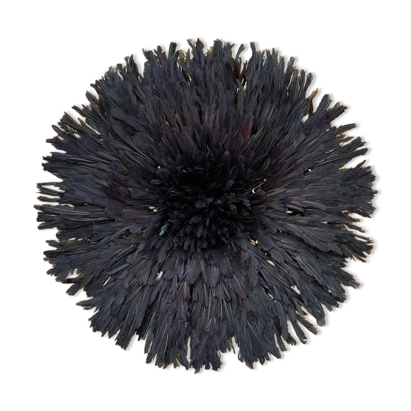 Black juju hat for an ethnic wall decoration