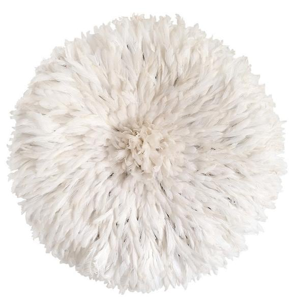 White juju hat for a trendy african wall decoration
