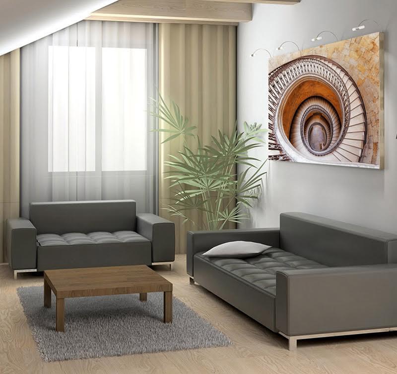 Tableau photo d'art d'un escalier qui vous transporte dans une autre dimension pour votre décoration intérieure