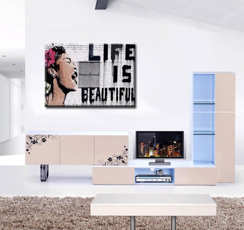 Tableau design de Banksy dans une version unique pour votre intérieur