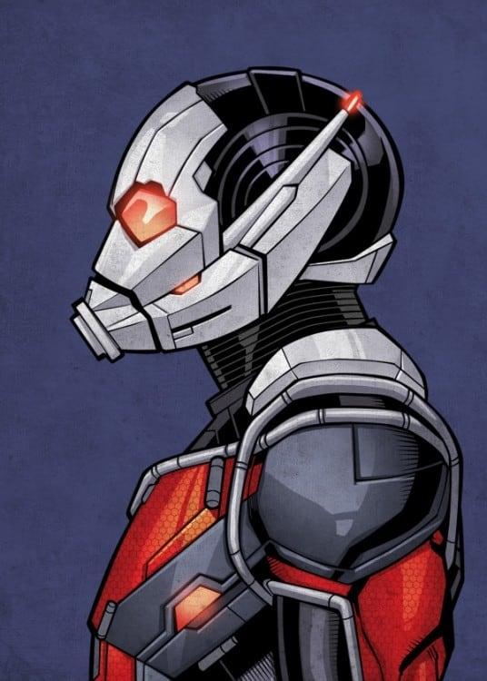 Poster en métal de Ant man le super héros marvel