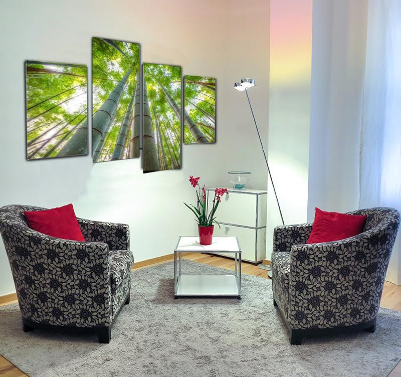 Beautiful four pieces design canvas print to inspire your home with a zen attitude