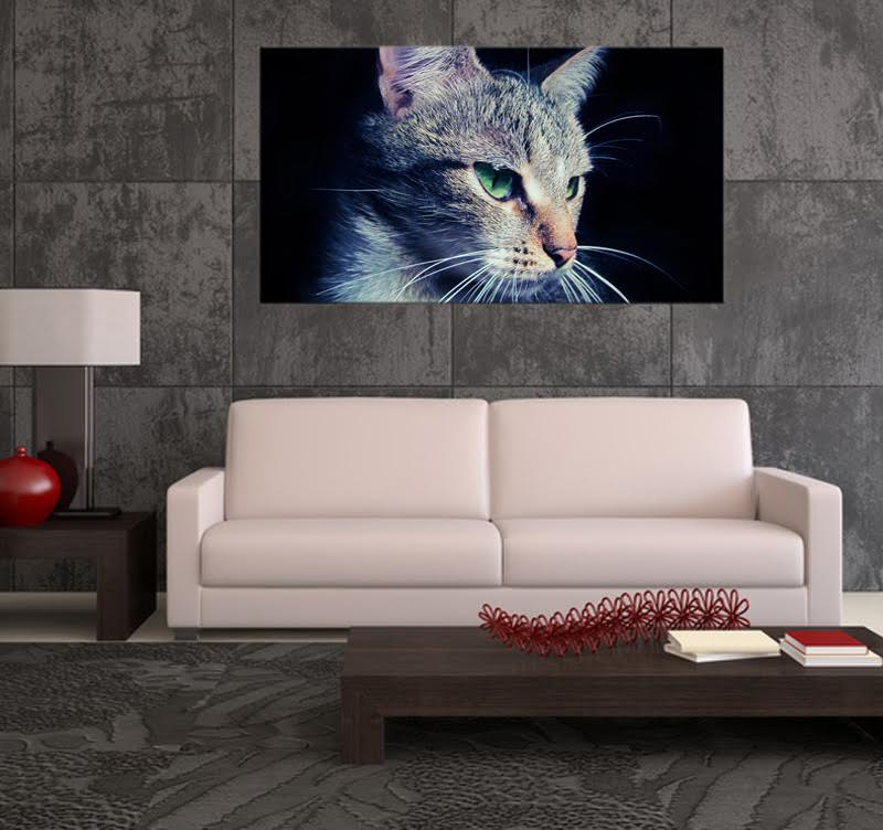 Peaceful Cat Modern Art Print