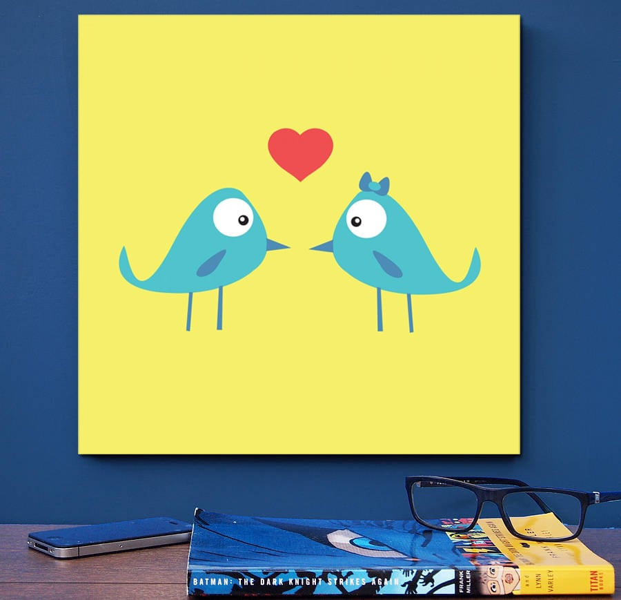 Les Oiseaux Amoureux decorative art print