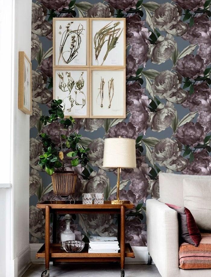 Papier peint peonies floral signé Artwall and Co pour une déco tendance