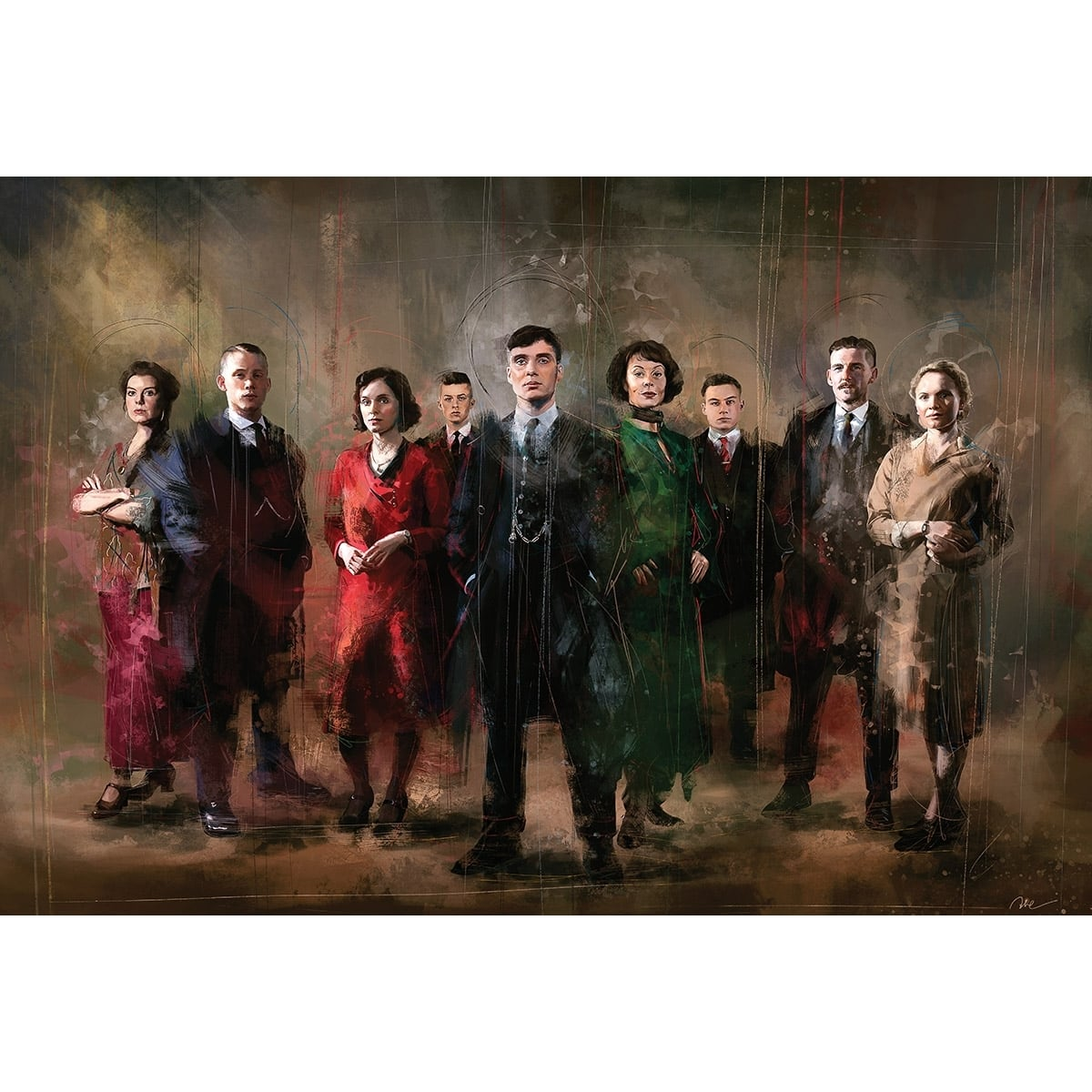 Peaky blinders family for a unique wall decoration