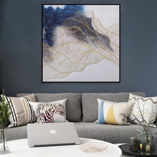 Gold Wave oil painting on canvas for design interior