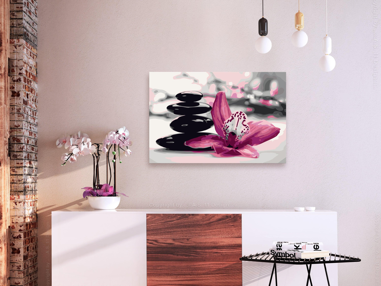 Peinture par numéro adulte de galet pour une décoration zen