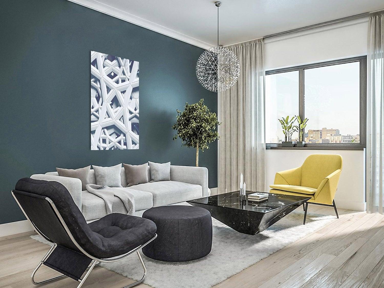 Photo d'art aluminium architecture moderne pour un intérieur design