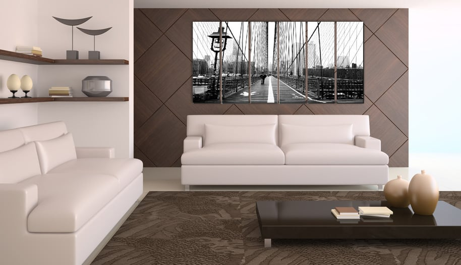Pont new york tableau ville artwall and co for Grand tableau noir et blanc
