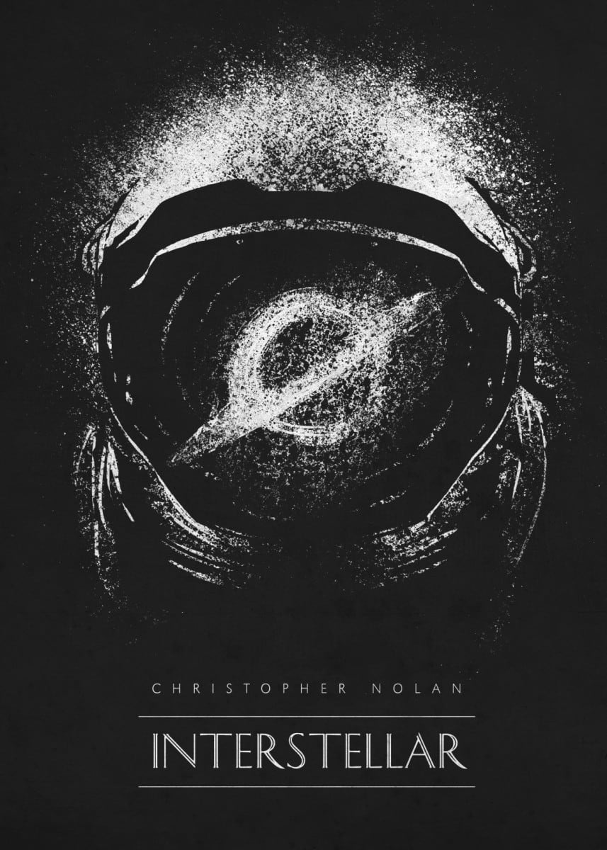 Interstellar metal poster for a movie wall decoration