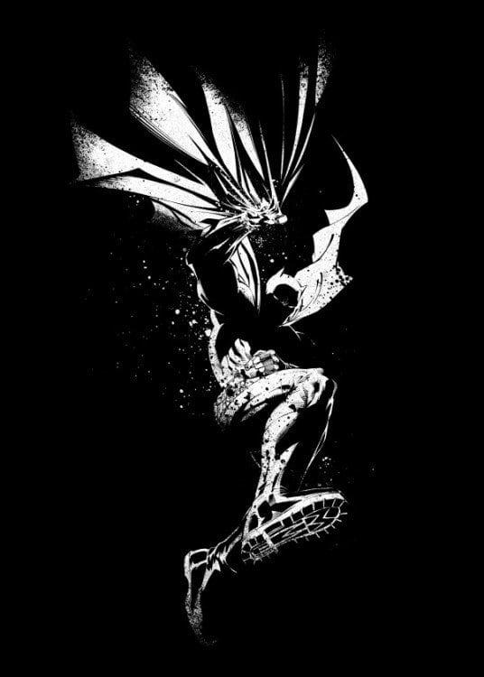 Affiche mural en métal du dark knight en noir et blanc