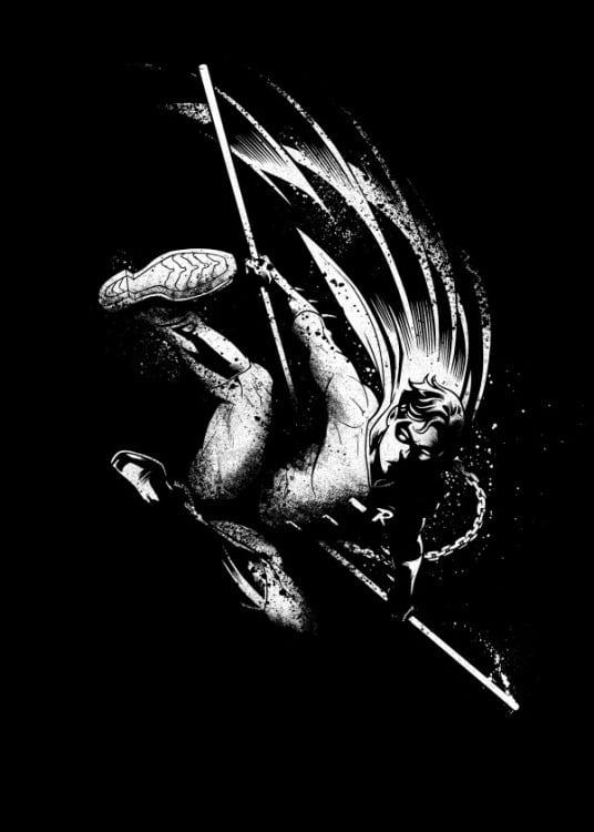 Poster mural en métal de Robin pour une touche déco DC Comics