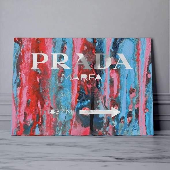 Prada marfa pop art wall decoration for a unique interior
