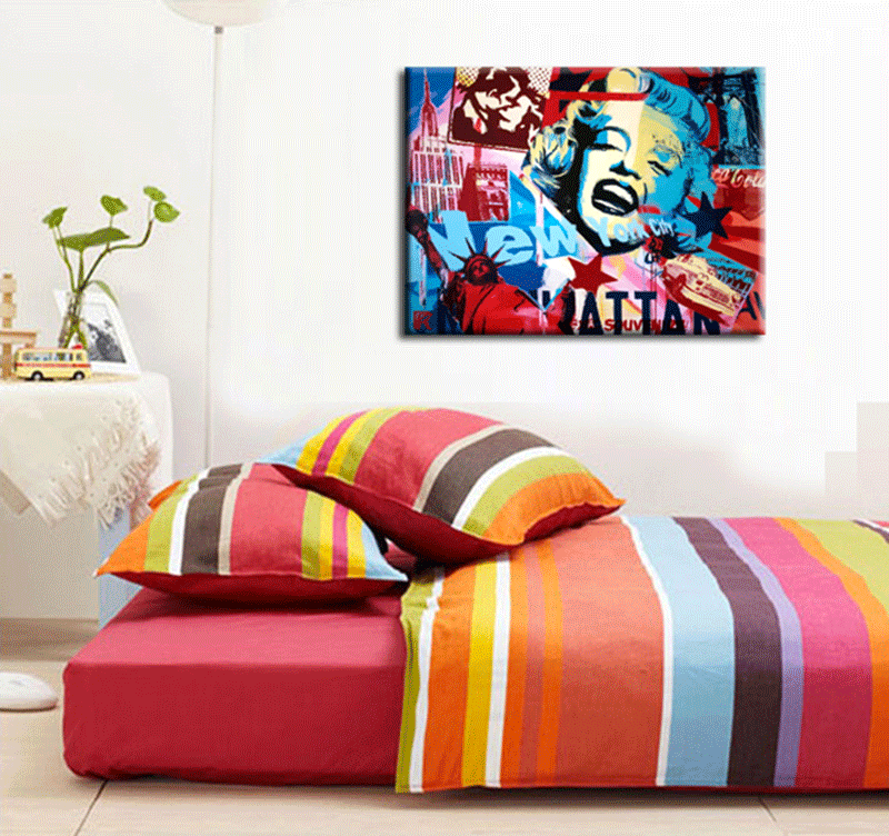 New York Symbols pop art canvas