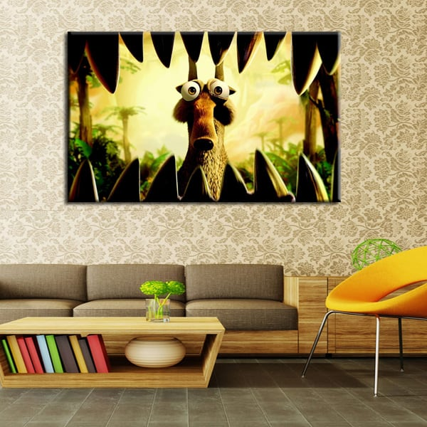 Scrat Ice Age Art Print for Kids