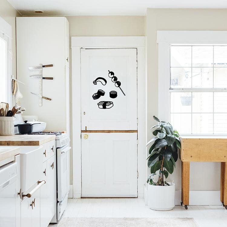 Décoration murale bois sushi japonais design pour un intérieur tendance