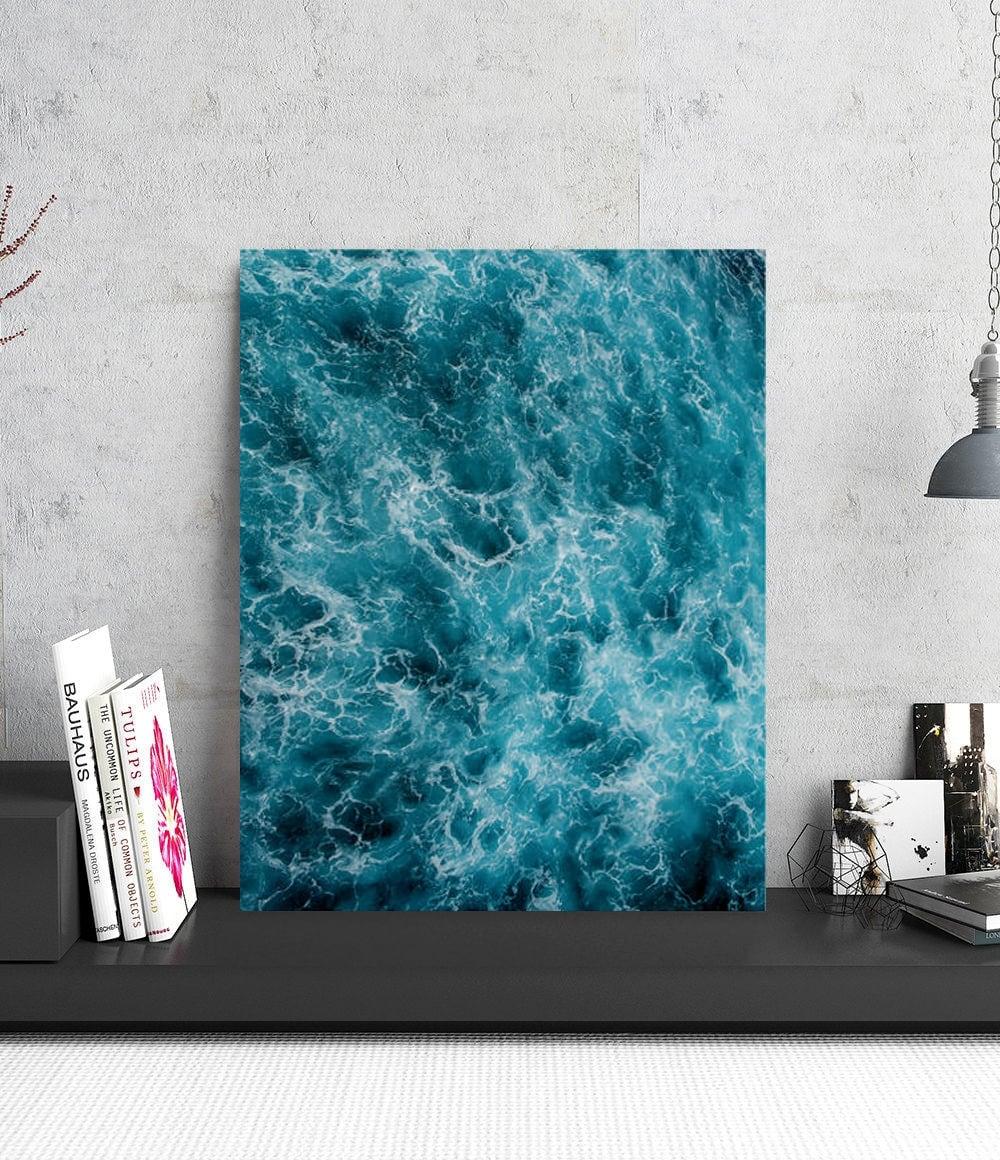 Tableau photo aluminium d'un ocean en pleine houle