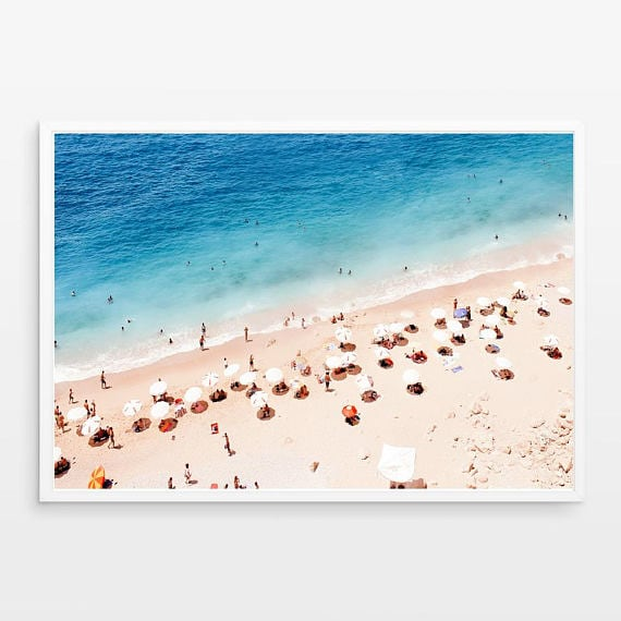 Beach aluminium wall decoration for a trendy interior