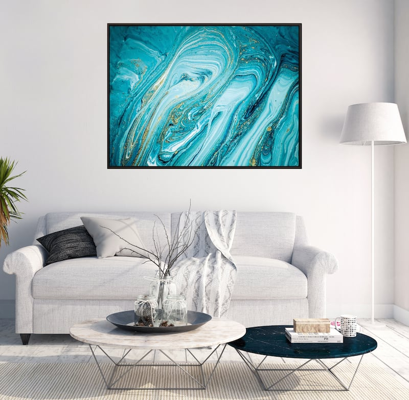 Tableau tendance marbre bleu pour un intérieur design