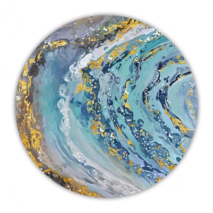 Tableau mural rond écume pour une touche abstraite