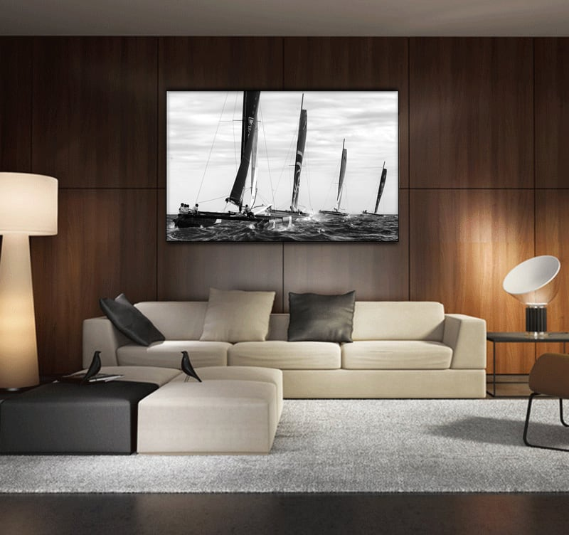 Racing Boat decorative art print