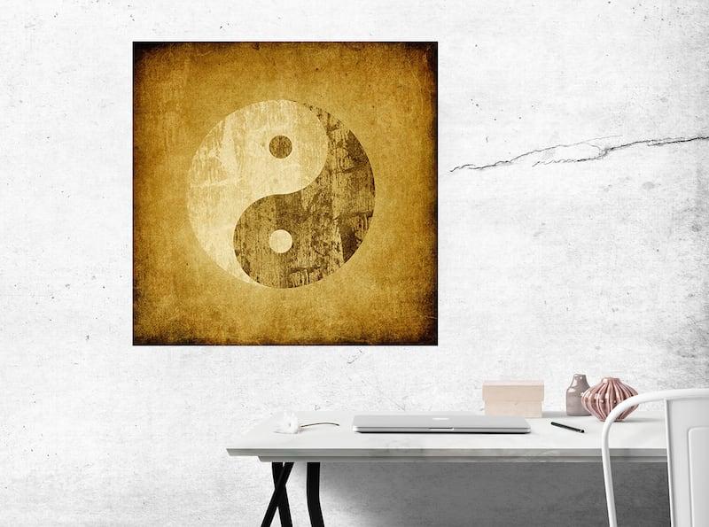 Tableau deco ying yang pour une décoration murale zen