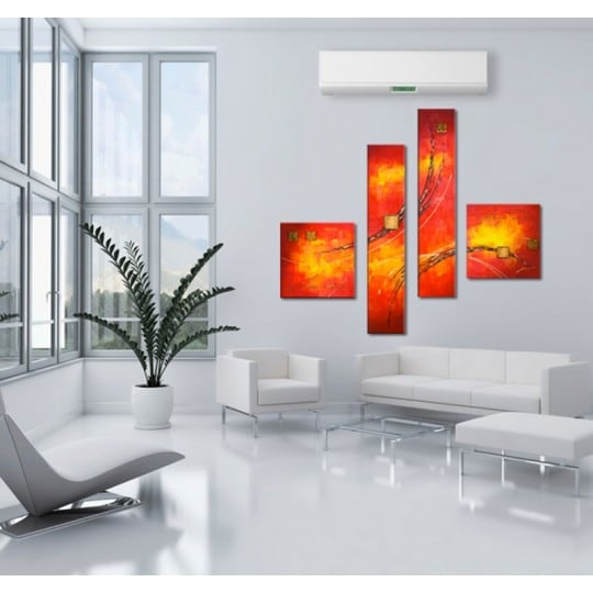Abstract painting on canvas to make a design wall
