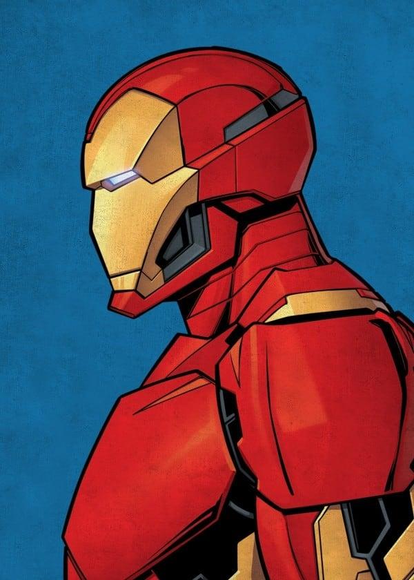 Poster métal d'un portrait d'iron man