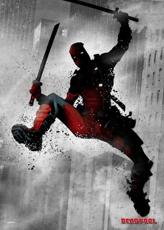 Poster marvel en métal deadpool