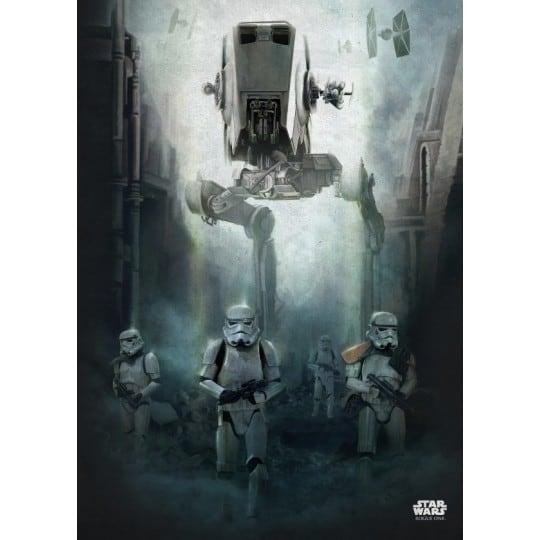 poster mural star wars en métal de l'armée de l'empire