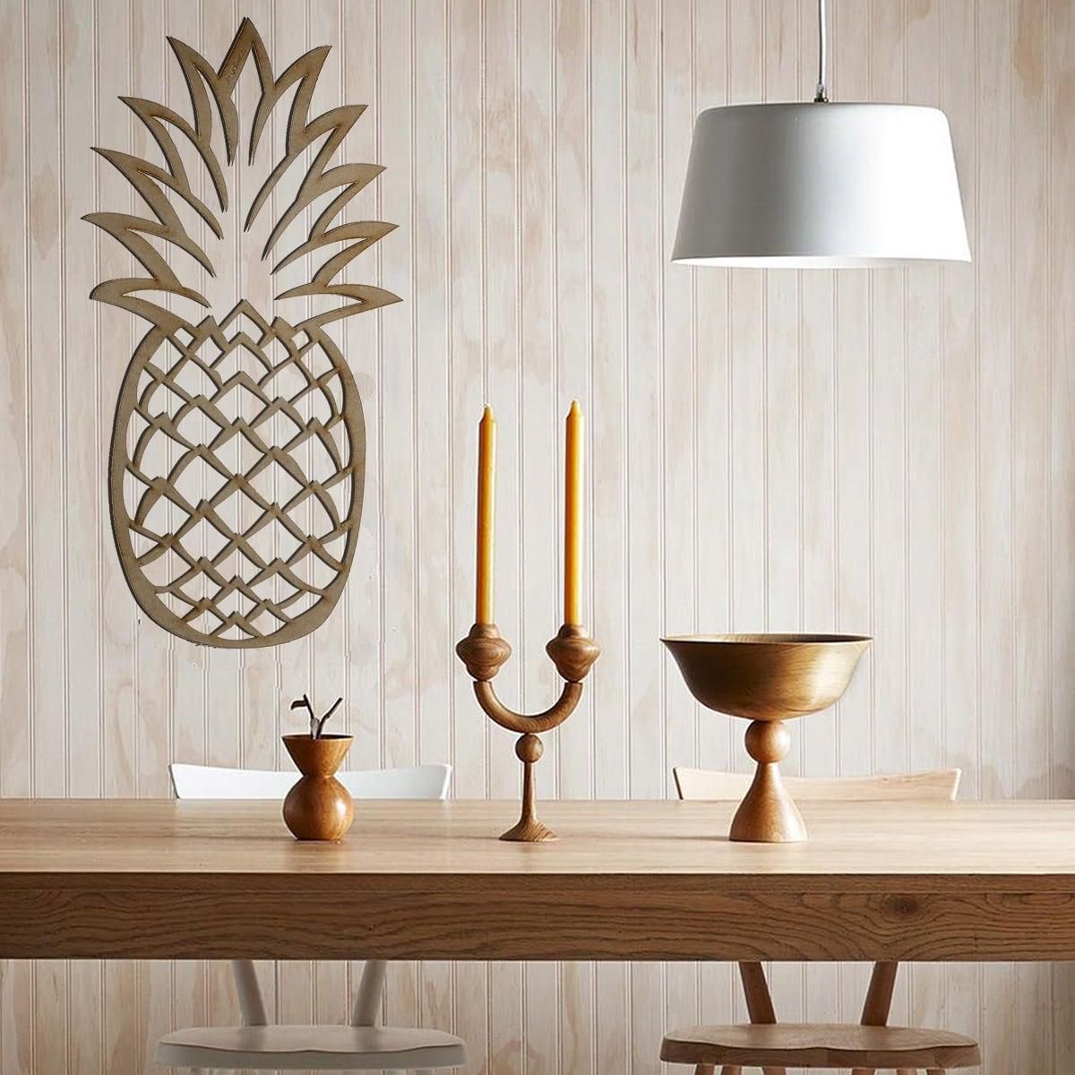 Décoration murale design en bois de notre ananas Artwall and Co